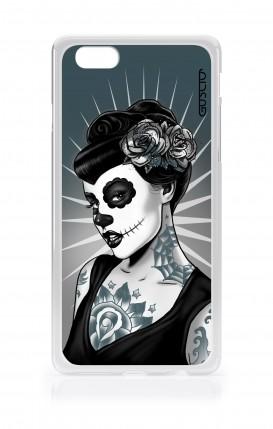 Cover Apple iPhone 6/6s - Calavera bianco e nero