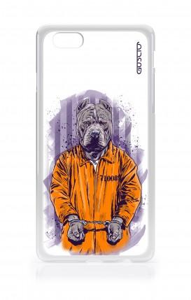 Cover Apple iPhone 6/6s - Cane carcerato bianco