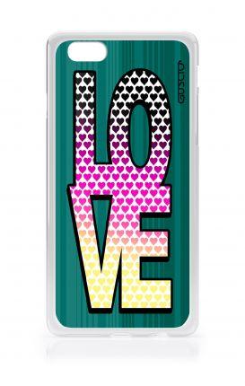 Cover TPU Apple iPhone 6/6s - LOVE con tanti cuori