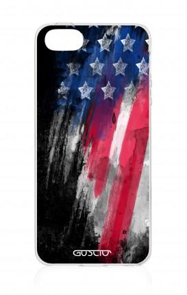 Cover Apple iPhone 5/5s/SE - Bandiera americana