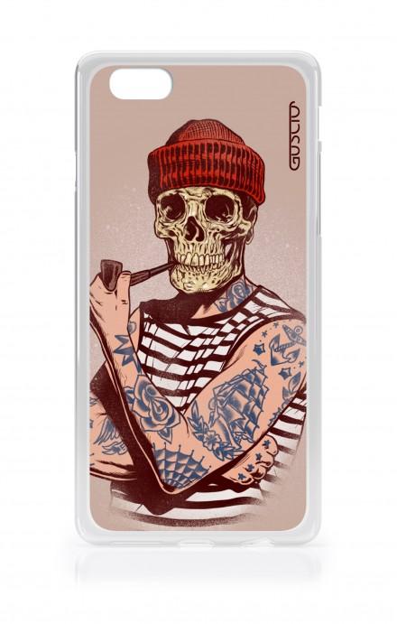 Cover TPU Apple iPhone 6/6s - Marinaio teschio