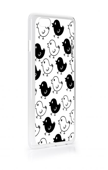 Cover Apple iPhone 6/6s - Black & White Chicks