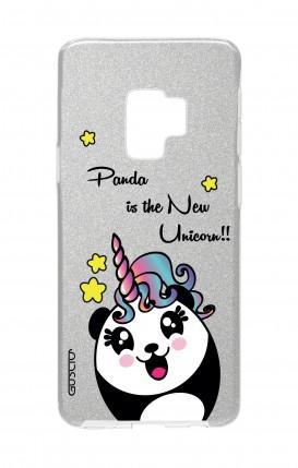 Cover GLITTER Samsung S9Plus SLV - Pandacorno trasperente