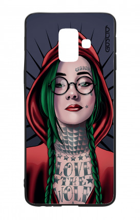 Samsung A6 Plus WHT Two-Component Cover - Red Hood Girl