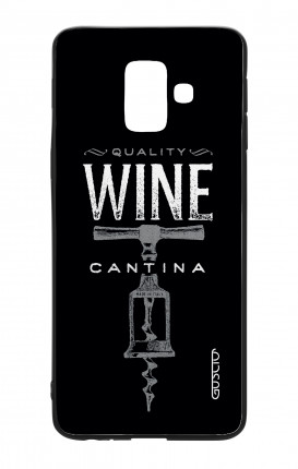 Samsung A6 Plus WHT Two-Component Cover - Wine Cantina