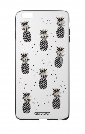 Apple iPhone 7/8 Plus White Two-Component Cover - Black&White Ananas