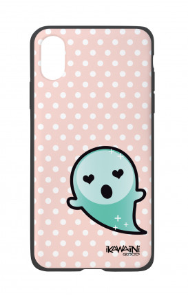 Apple iPh XS MAX WHT Two-Component Cover - Ghost Kawaii