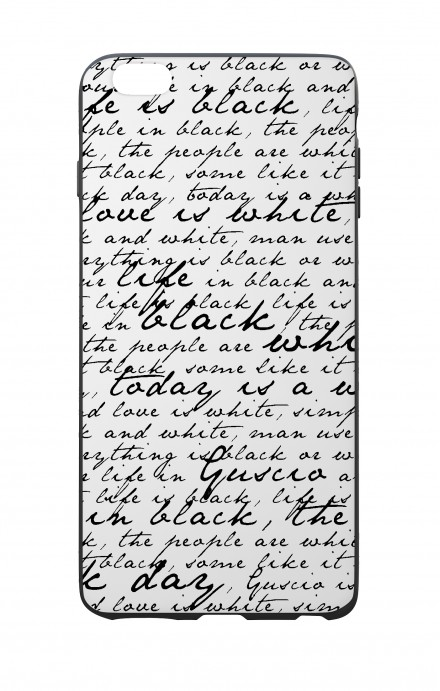 Apple iPhone 6 WHT Two-Component Cover - B&W Letter