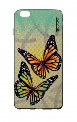 Apple iPhone 6 WHT Two-Component Cover - Polka dot and butterflies