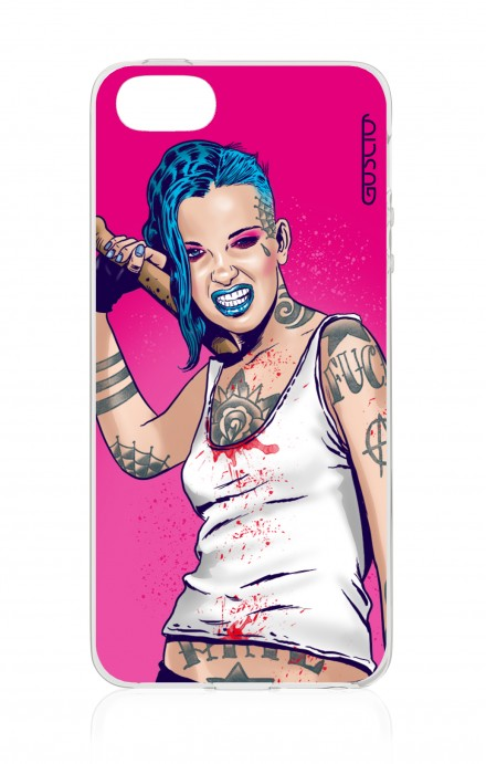 Cover Apple iPhone 5/5s/SE - Girl in Turqoise