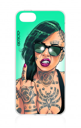 Cover TPU Apple iPhone 5/5s/SE - Ragazza capelli verdi