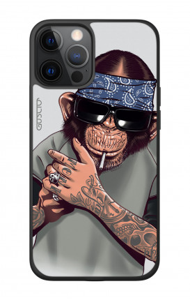 Cover Bicomponente Apple iPhone 12 PRO MAX - Scimpanze con bandana