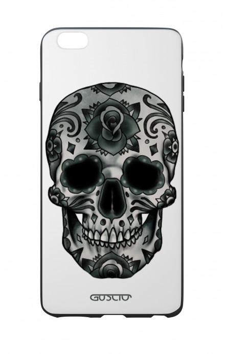Cover Bicomponente Apple iPhone 6 Plus - Teschio calavera scuro