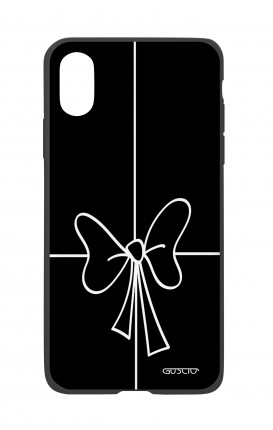 Apple iPh XS MAX WHT Two-Component Cover - Bow Outline