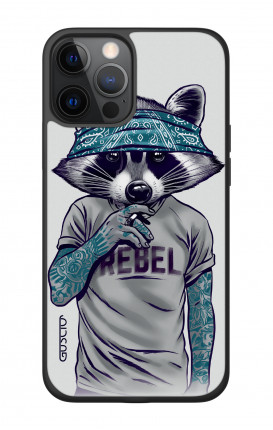 "Apple iPhone 12 6.7"" Two-Component Cover - Raccoon with bandana"