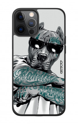 """Apple iPhone 12 6.7"""" Two-Component Cover - Tattooed Pitbull"""