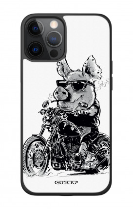 """Apple iPhone 12 6.7"""" Two-Component Cover - Biker Pig"""