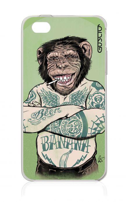 Cover Apple iPhone 4/4S - Scimmia tatuata