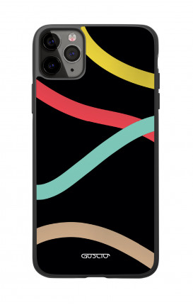 Apple iPhone 11 PRO Two-Component Cover  - Black Abstract